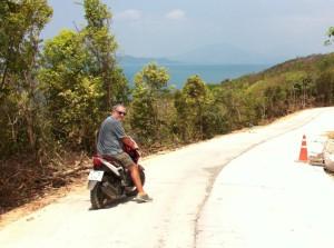 Ko Samet on a motor-bike