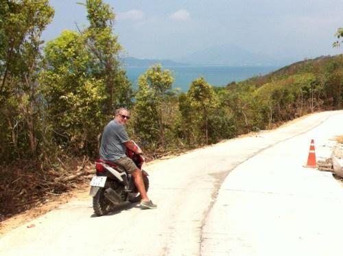 Ko Samet on a motorbike