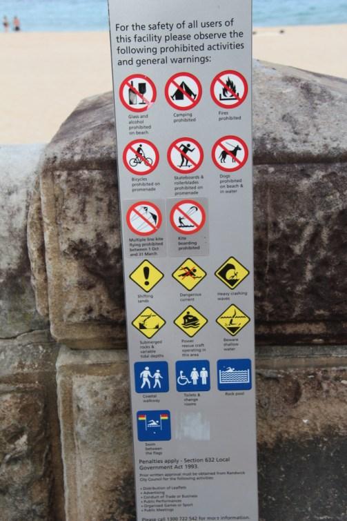 Bondi to Coogee coastal walk instructions