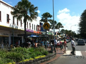 Village centre of Kiama, New South Wales