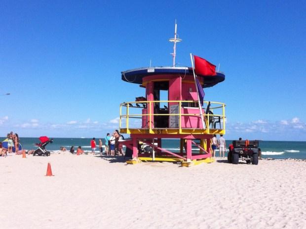 A typical Miami beach hut