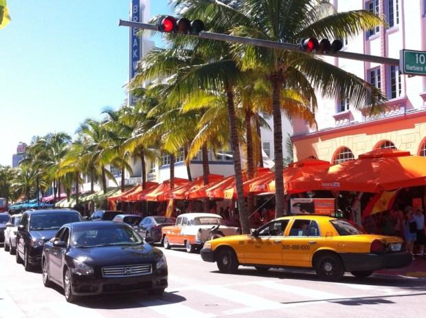 Cycling Miami Beach, Ocean Drive
