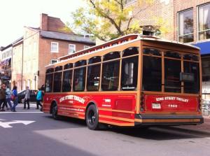 King Street trolley, Old Town Alexandria