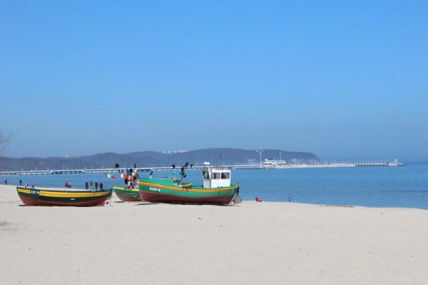 Bzezno beach and Sopot pier