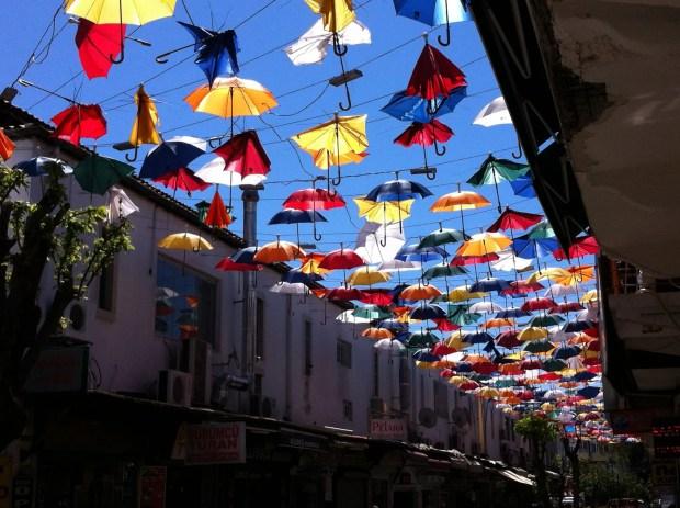 Antalya umbrellas
