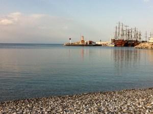 Harbor and Beach of Kemer