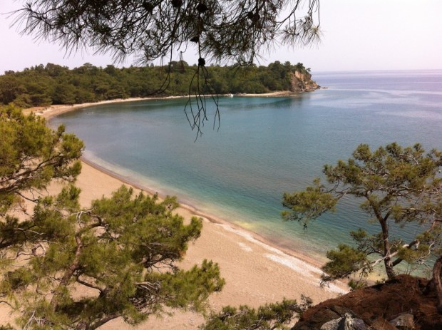 Phaselis Beach from the Hill