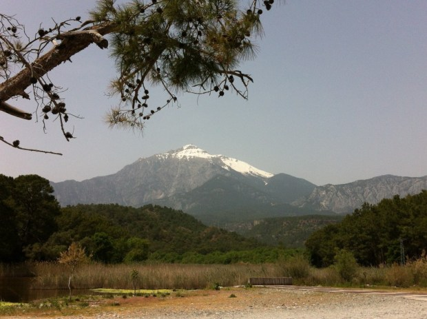 Olympos Mountain seen from Phaselis