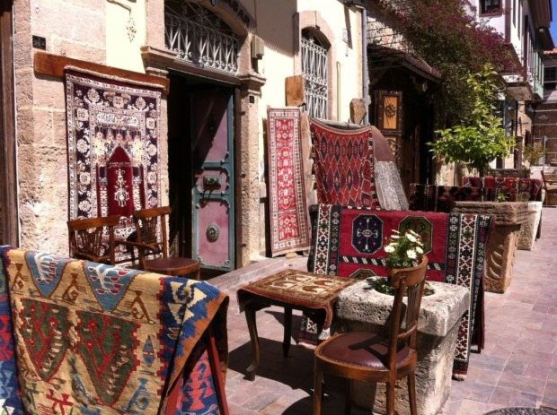 Turkish carpets in Kaleici, Antalya Old Town