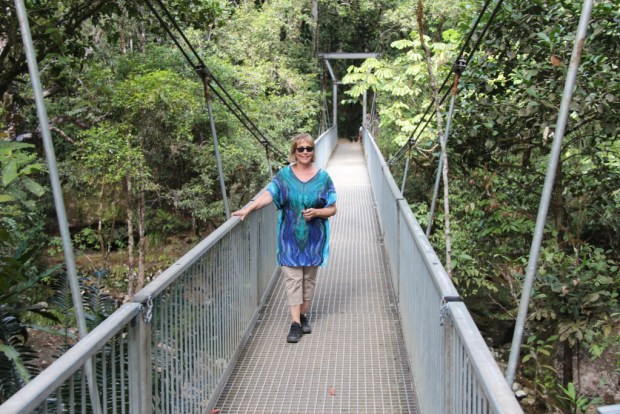 Walking in Mossman Gorge, Daintree National Park
