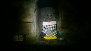 Goa Gajah elephant statue in cave