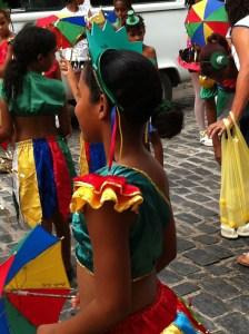 Preparing for Olinda Carnival parade