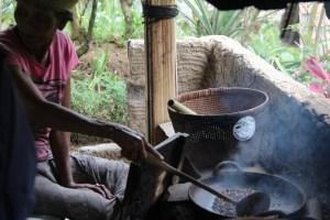 Roasting coffee in Bali