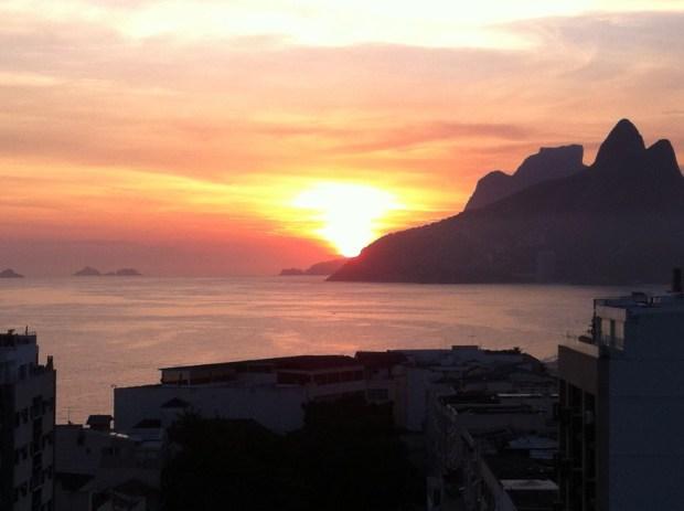 Ipanema sunset, sightseeing in Rio de Janeiro