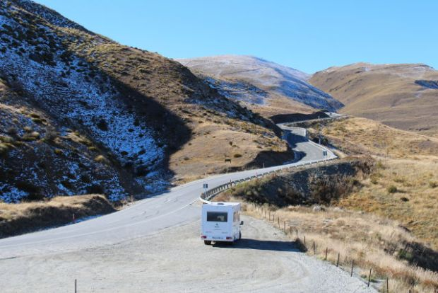 Crown Range road Queenstown to Mount Cook