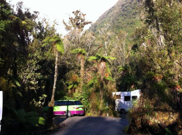 New Zealand campervans in a holiday park