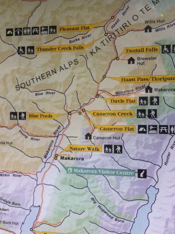 Mount Aspiring hiking map