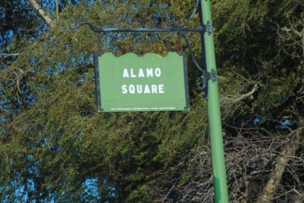 An Alamo Square street sign