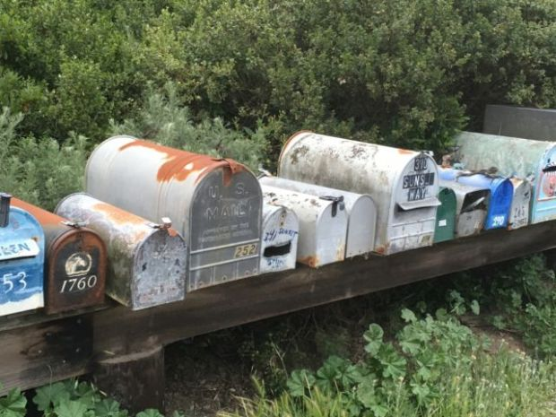 Muir Beach mailboxes