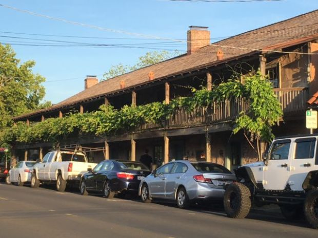 Sonoma historic house with balconies