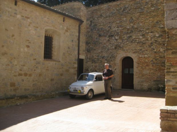 Tuscany Scenic Drive, an old Fiat