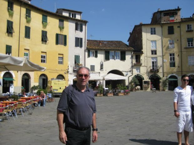 Tuscany scenic drive Lucca marketplace