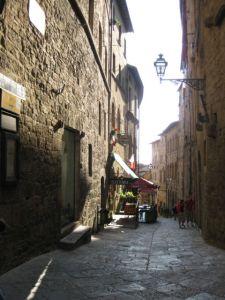 Tuscany scenic drive Volterra street