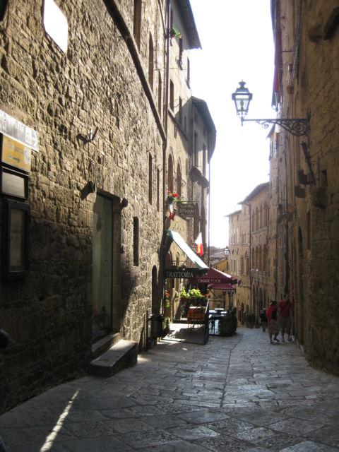 Tuscany scenic drive, a Volterra street