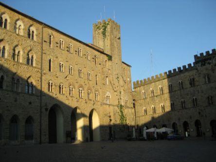 Tuscany scenic drive Volterra twilight