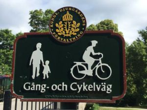 Stockholm bike lane sign