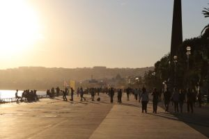 Nice in one day, Promenade des Anglais sunset