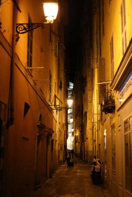 Street in Nice Old Town France