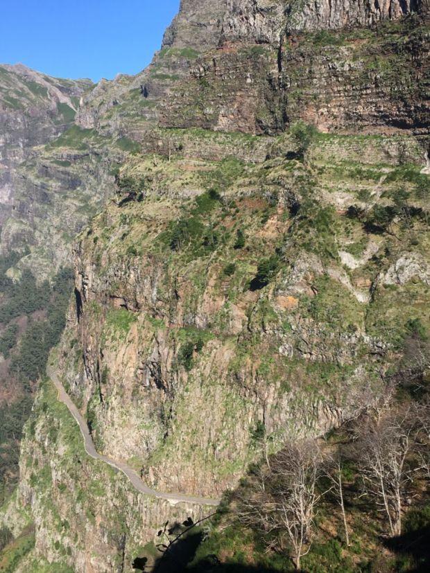 A winding mountain road, Curral das Freiras