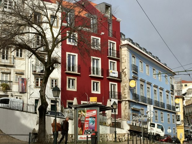 Touring Lisbon on tram 28: Alfama tram stop