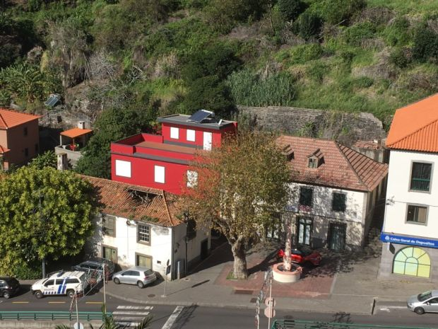 Calheta village square from mountains