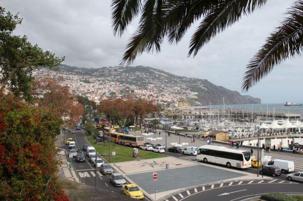 Exploring Funchal sights Funchal harbor