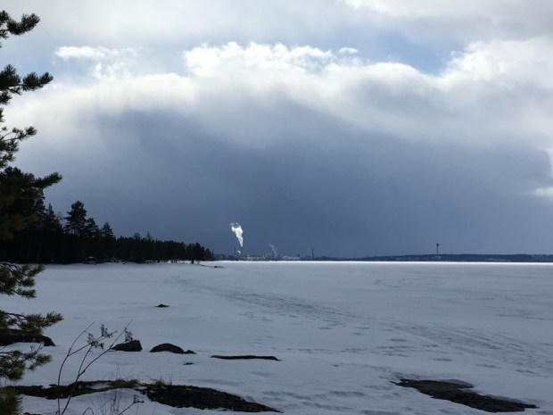 Finland, lake view of Tampere