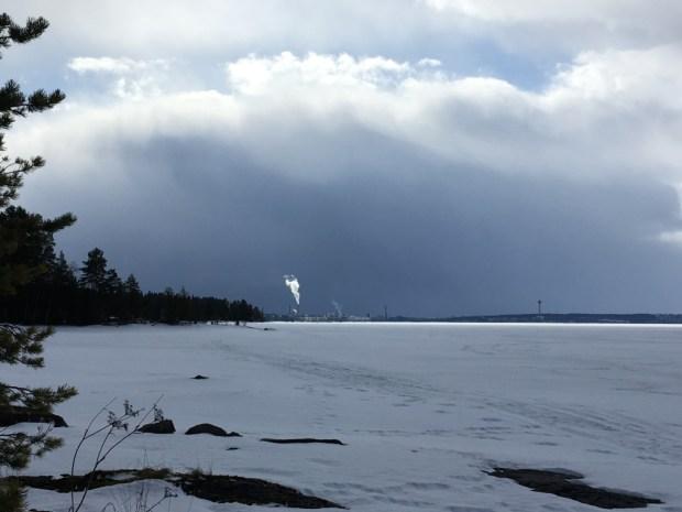 Lake Näsijärvi and Tampere shoreline, Finland