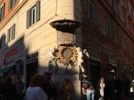 Fontana di Trevi street corner