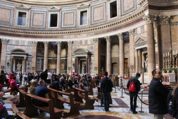 Visiting the Pantheon, Rome