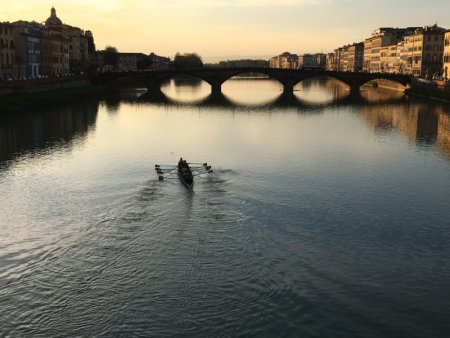 Canoeing on River Arno