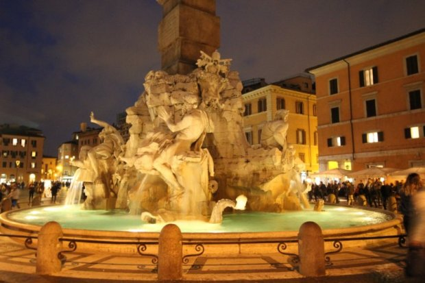 Piazza Navona fountain of Four Rivers