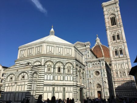 The Duomo of Florence and the Baptistry