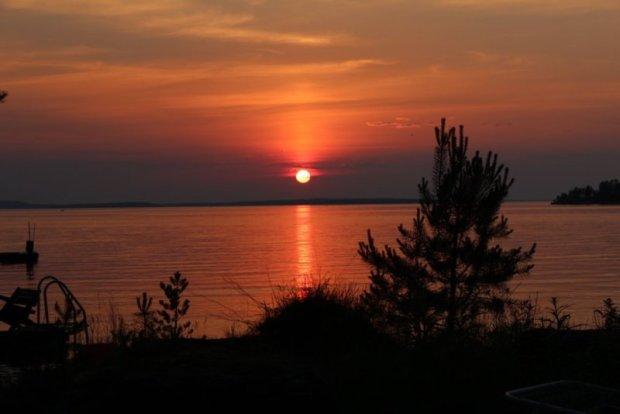 Lake Näsijärvi sunset