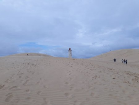 Dunes and Rubjerg Knude lighthouse