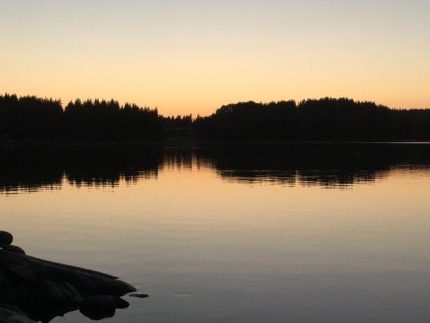 Lake Näsijärvi after sunset