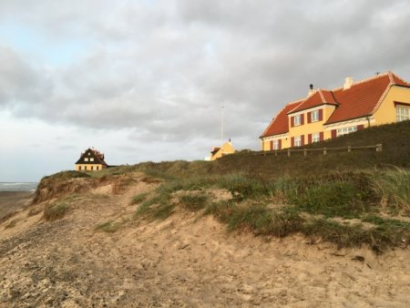 Old Skagen holiday houses on dunes