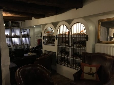 Vraa Slotshotel wine cellar