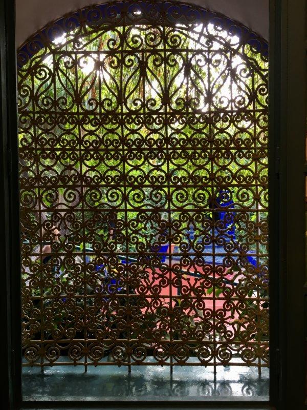 Gate in the Majorelle Gardens
