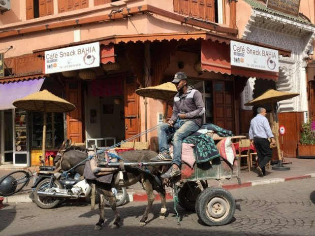 Marrakech Mellah local traffic
